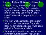 darren belfast university student