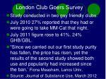 london club goers survey