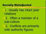 socially maladjusted1