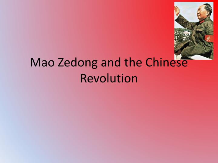 mao zedong and the chinese revolution n.