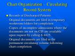 chart organization circulating record system
