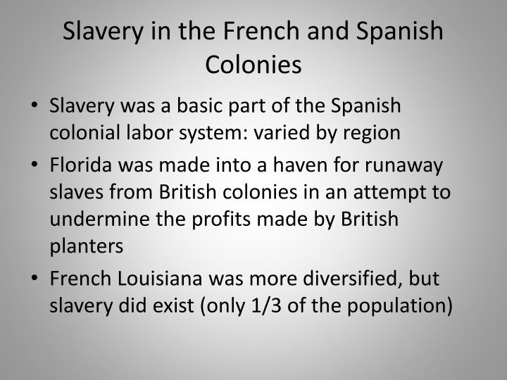 Slavery in the French and Spanish Colonies