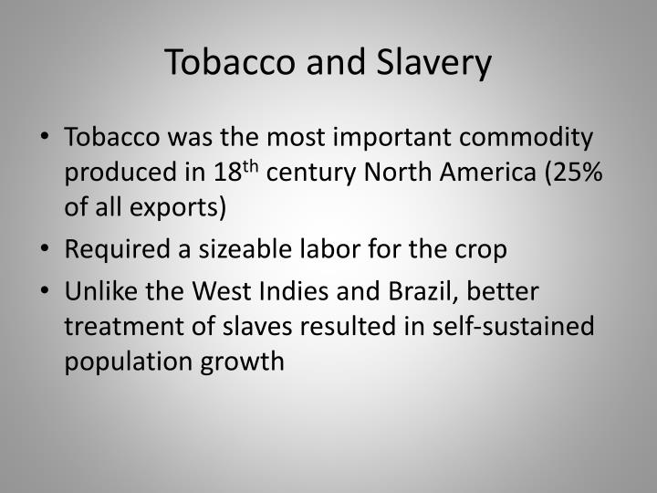 Tobacco and Slavery