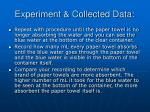 experiment collected data