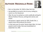 author reginald rose 1