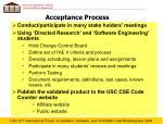 acceptance process