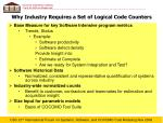 why industry requires a set of logical code counters
