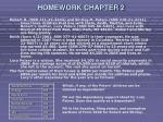 homework chapter 2