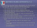 married filing separately 31