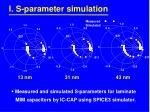 i s parameter simulation