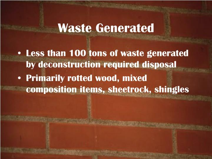 Waste Generated