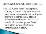 our good friend rule 37 e