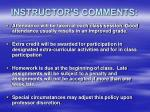 instructor s comments