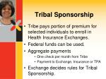 tribal sponsorship
