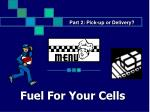 fuel for your cells