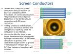 screen conductors