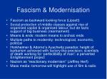 fascism modernisation