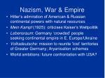 nazism war empire