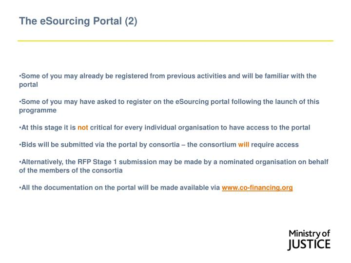 The eSourcing Portal (2)