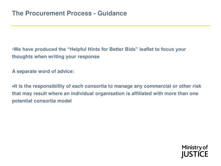 The Procurement Process - Guidance