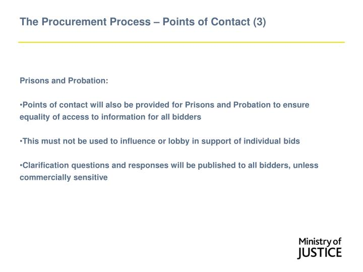 The Procurement Process – Points of Contact (3)