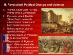 iii revolution political change and violence