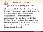 indiana medical qualification program cont d7