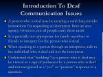 introduction to deaf communication issues