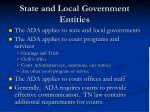 state and local government entities