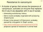 resistance to vancomycin