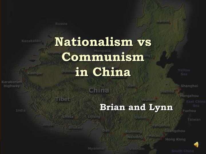 nationalism vs communism in china n.