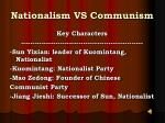 nationalism vs communism