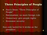three principles of people