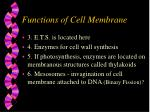functions of cell membrane1
