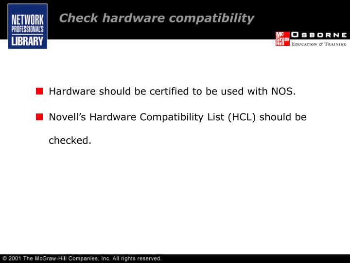 Check hardware compatibility
