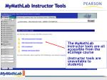 mymathlab instructor tools