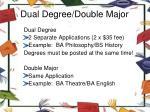 dual degree double major