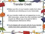 transfer credit