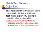 match test items to objectives