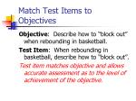 match test items to objectives2