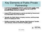 key elements of public private partnership