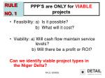 ppp s are only for viable projects