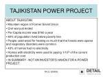 tajikistan power project