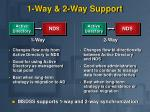 1 way 2 way support