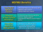 msfmu benefits