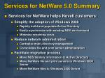 services for netware 5 0 summary