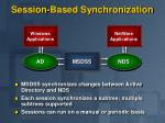 session based synchronization