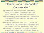 elements of a collaborative conversation