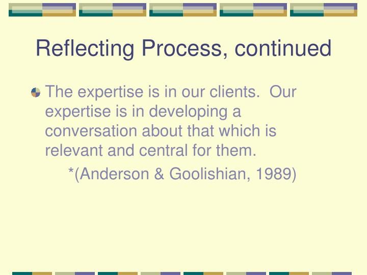 Reflecting Process, continued