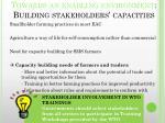 towards an enabling environment building stakeholders capacities